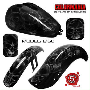E163 Skulls airbrushed over black base.jpg