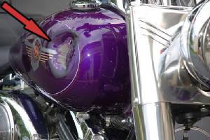 Motorcycle paint repair harley paint repair dent repair for How much to paint a motorcycle